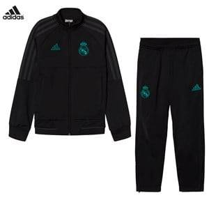Real Madrid Boys Sporting replica Black Real Madrid ´17 Junior Training Tracksuit