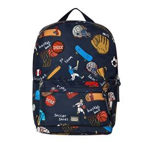 Dolce & Gabbana Boys Bags Navy Navy Sports Cartoon Print Backpack