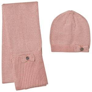 Mayoral Girls Winter sets Pink Pink Sparkly Knitted Hat and Scarf