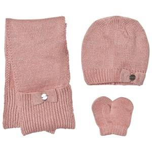 Mayoral Girls Winter sets Pink Pink Knitted Hat, Scarf and Mittens Set