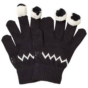 Stella McCartney Kids Boys Gloves and mittens Navy Black Eye Gloves