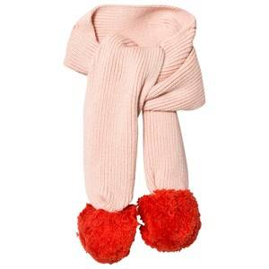 Stella McCartney Kids Girls Scarves Pink Elvira Pom Pom Scarf