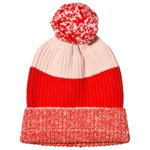 Stella McCartney Kids Girls Scarves Pink Red Tweddle Pom Pom Hat