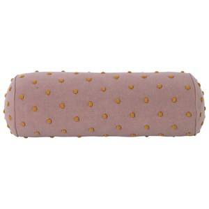 ferm LIVING Girls Textile Pink Popcorn Bolster Cushion - Dusty Rose