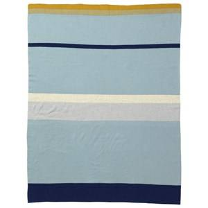 ferm LIVING Unisex Textile Blue Little Stripy Blanket - Blue