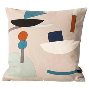 ferm LIVING Unisex Textile Grey Seaside Cushion - Grey