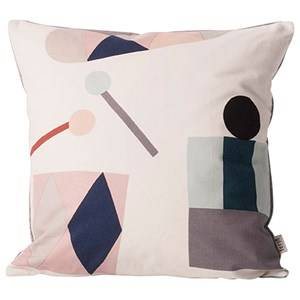 ferm LIVING Unisex Textile White Party Cushion - Off White