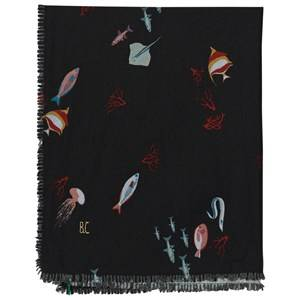 Bobo Choses Unisex Scarves Black Deep Sea Foulard