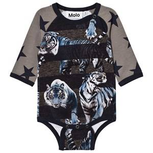 Molo Boys Onesies Blue Floyd Baby Body Blue Tigers