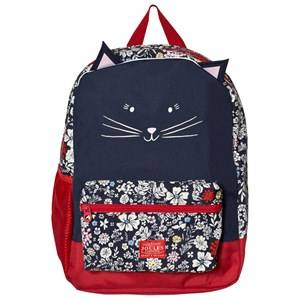 Joules Girls Bags Navy Navy Floral Print Cat Backpack