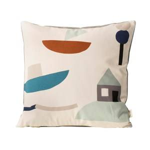 ferm LIVING Unisex Textile White Seaside Cushion - Off-white