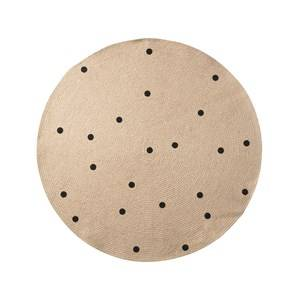 ferm LIVING Unisex Textile Black Small Jute Carpet - Black Dots