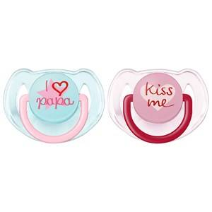 Philips Avent Unisex Baby feeding Pink Fashion Soother 6-18M 2 Pack Pink