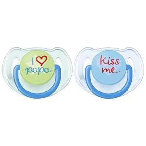 Philips Avent Unisex Baby feeding Blue Fashion Soother 6-18M 2 Pack Blue