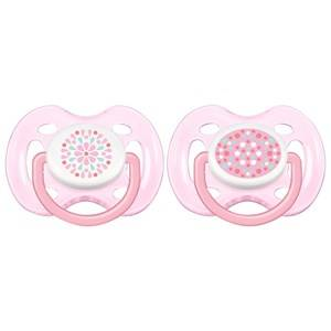 Philips Avent Unisex Baby feeding Pink Freeflow Soother 0-6M 2 Pack Pink