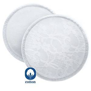 Philips Avent Girls Breast feeding Beige Washable Breast Pads with Laundry Bag - 6 Pack