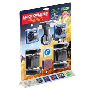 Magformers Unisex Construction Blue Wheel Pack 7 Piece Set