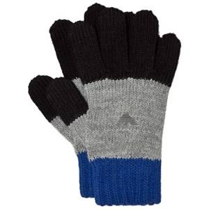 Giorgio Armani Junior Boys Gloves and mittens Blue Blue and Grey Logo Gloves