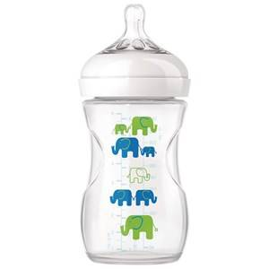 Philips Avent Unisex Baby feeding Beige Elephant Natural Feeding Bottle 260 ml (9 oz)
