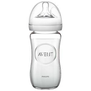 Philips Avent Unisex Baby feeding Beige Natural Glass Feeding Bottle 240 ml (8 oz) 0M+