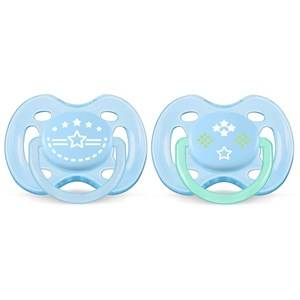 Philips Avent Unisex Baby feeding Blue Freeflow Soother 0-6M 2 Pack Vintage Blue