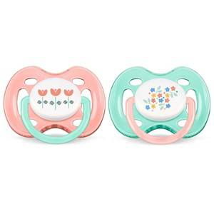 Philips Avent Unisex Baby feeding Pink Freeflow Soother 0-6M 2 Pack Vintage Pink