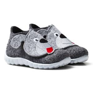 Superfit Unisex Slippers Grey Happy Schwarz Kombi Indoor Shoes