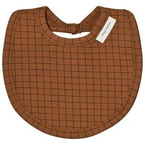 Tinycottons Unisex Baby feeding Brown Grid Bib Brown/Black