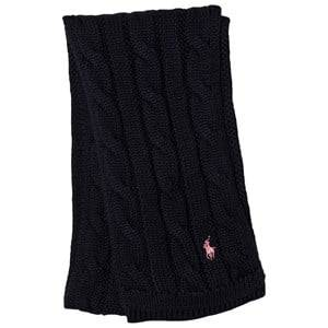 Ralph Lauren Girls Scarves Navy Navy Cable Knit Mini Scarf