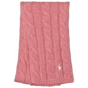 Ralph Lauren Girls Scarves Pink Pink Cable Knit Mini Scarf