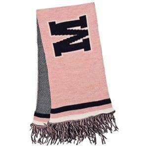MSGM Girls Scarves Pink Pink and Navy Logo Scarf