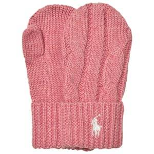 Ralph Lauren Girls Gloves and mittens Pink Pink Knit Mittens