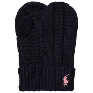 Ralph Lauren Girls Gloves and mittens Navy Navy Knit Mittens
