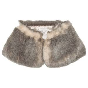 Carrément Beau Girls Scarves Grey Grey Faux Fur Collar