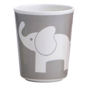 Elephant Unisex Tableware Grey Melamine Glass Elefant Dark Grey