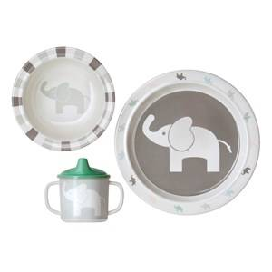 Elephant Unisex Tableware Grey Elephant Gift Box 3-Piece Set