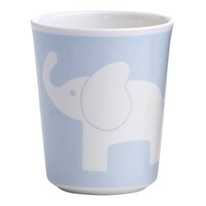 Elephant Boys Tableware Blue Melamine Glass Elephant Light Blue