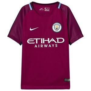 Manchester City FC Unisex Sporting replica Red Manchester City FC Away T-Shirt
