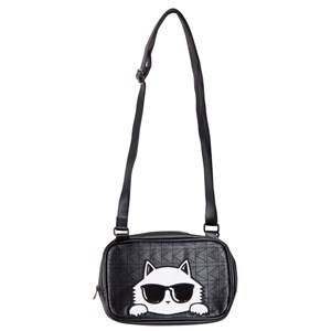 Karl Lagerfeld Kids Girls Bags Black Black Choupette Shoulder Bag