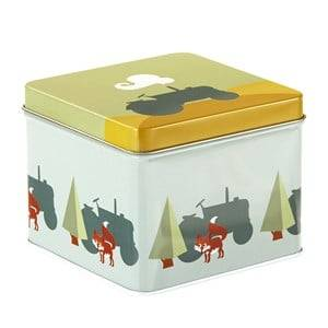 Blafre Unisex Baby Gear Lunch boxes and containers Grey Small Tin Box Tractor Blue-Green