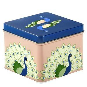 Blafre Unisex Baby Gear Lunch boxes and containers Blue Small Tin Box Peackock