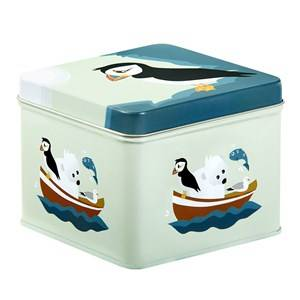 Blafre Boys Lunch boxes and containers Blue Small Tin Box Puffin