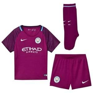 Manchester City FC Unisex Sporting replica Red Manchester City FC Kids Away Soccer Kit