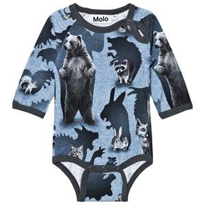 Molo Boys Onesies Grey Field Baby Body Shadow Camo