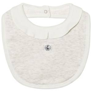 Petit Bateau Unisex Baby feeding Grey Striped Bib Grey