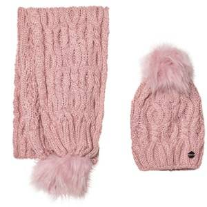 Mayoral Girls Winter sets Pink Pink Chunky Knit Hat and Scarf Set