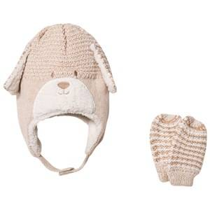 Mayoral Unisex Winter sets Beige Beige Bear Hat and Mittens Set