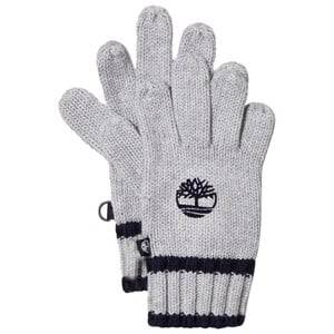 Timberland Boys Gloves and mittens Grey Grey Knit Branded Gloves
