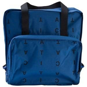 Tinycottons Unisex Bags Blue Alphabet Soup Backpack Blue/Dark Navy