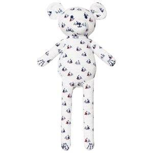 Petit Bateau Unisex Soft toys White Sailboat Print Teddy Bear